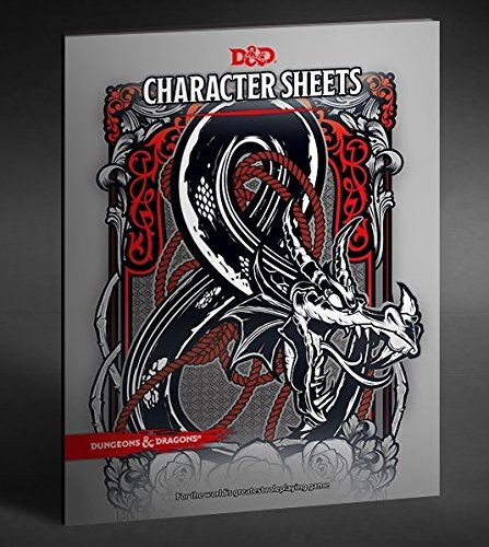 Dungeons & Dragons - Character & Spell Sheets with Premium Folder (5th Edition) Dragon Sheets