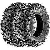 Sun.F A033 ATV Tires 26x9-12 Rear Set of 2 ,6 Ply