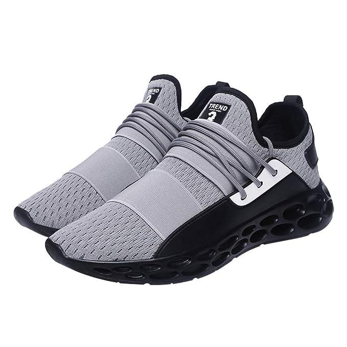 ❤ Zapatillas de Tenis de los Hombres, Ocasionales para Las Zapatillas de Tenis Adultas Zapatillas de Deporte Respirables Ligeras de Las Zapatillas de ...