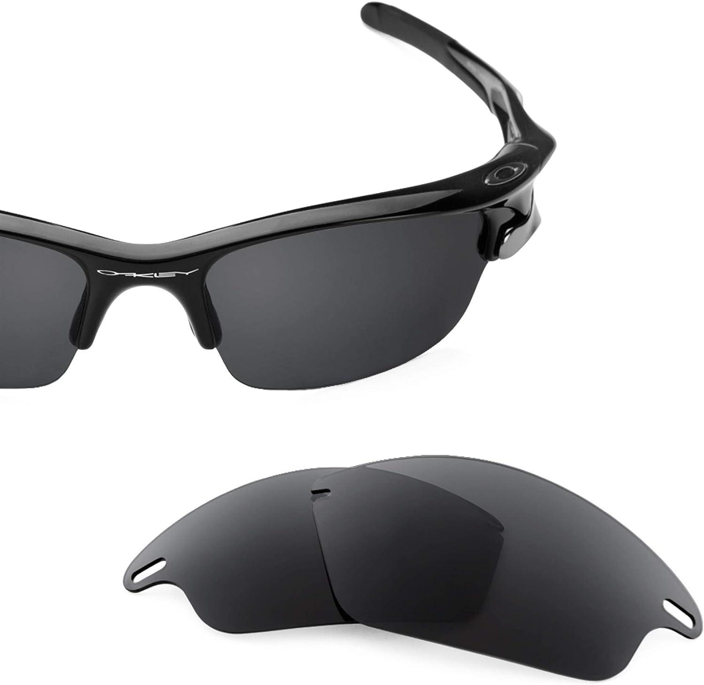 Revant Verres de Rechange pour Oakley Fast Jacket - Compatibles avec les Lunettes de Soleil Oakley Fast Jacket Noir Furtif - Polarisés