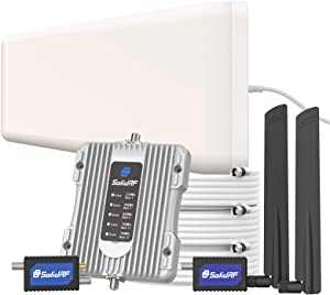 SolidRF Cell Phone Signal Booster-Up to 3000sq ft,Dual Interior Antennas Cell Phone Booster for Home Office,Cell Signal Booster Multiroom Kit,All U.S. Carriers -Verizon,AT&T, T-Mobile, Sprint
