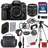 Nikon D7500 DX-format Digital SLR w/AF-P DX NIKKOR 18-55mm f/3.5-5.6G VR Lens, Professional Accessory Bundle (17 Items)