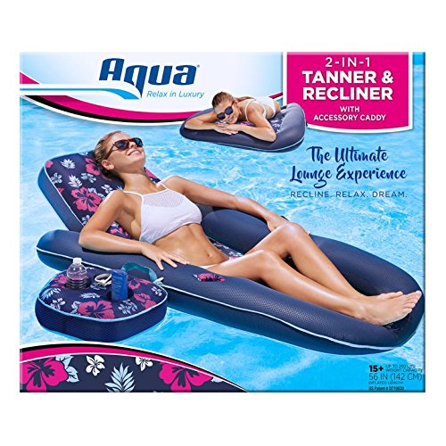 Aqua AQL14856AZ Ultimate 2-in-1 Lounge Caddy Float, 60