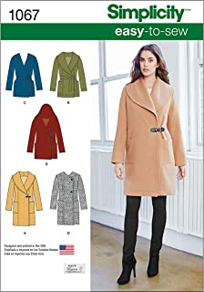 product image for Simplicity 1067 Learn to Sew Winter Coat and Jackets Sewing Pattern for Women, Sizes 6-14