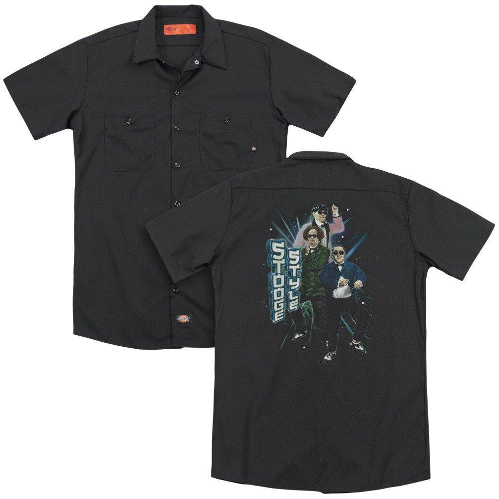 Three Stooges Stooge Style Adult Work Shirt
