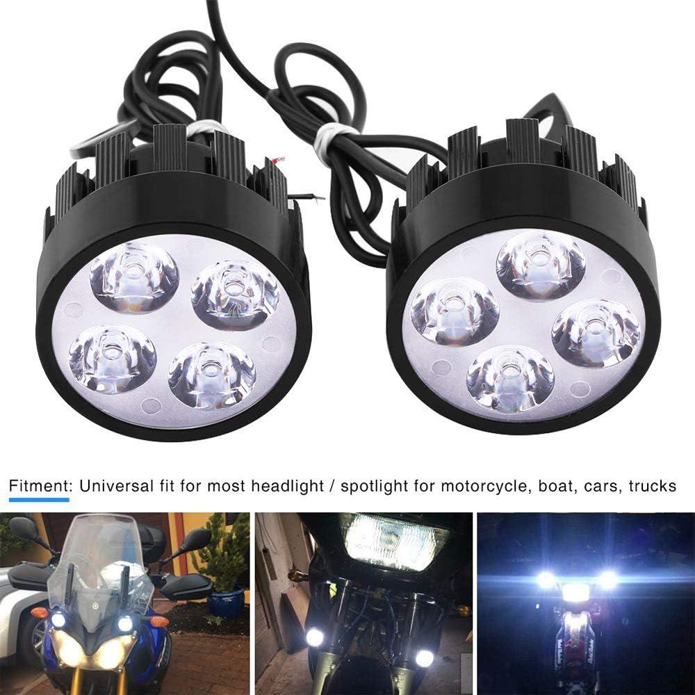 HopeU5/® Universal Motorrad 2 St/ück Elektroauto 4Leds Lampe Scheinwerfer Nebelscheinwerfer Scheinwerfer Fahren Hilfslicht