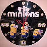 Cheap DIY MINIONS Decorative Designed Modern Vinyl Record Wall Clock Silent Large New Bedroom Livingroom Office Decore Analog Universal Decorate your home Best gift idea for childrens
