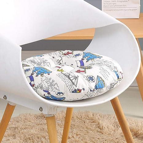 Amazon.com: Cojín de asiento grueso redondo de algodón ...