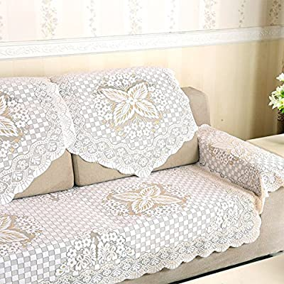 yazi Lace Custom Sectional Sofa Cover Armchair Slipcovers Furniture  Protector Table Cover 29inch by 35 1/2 inch Butterfly Flower