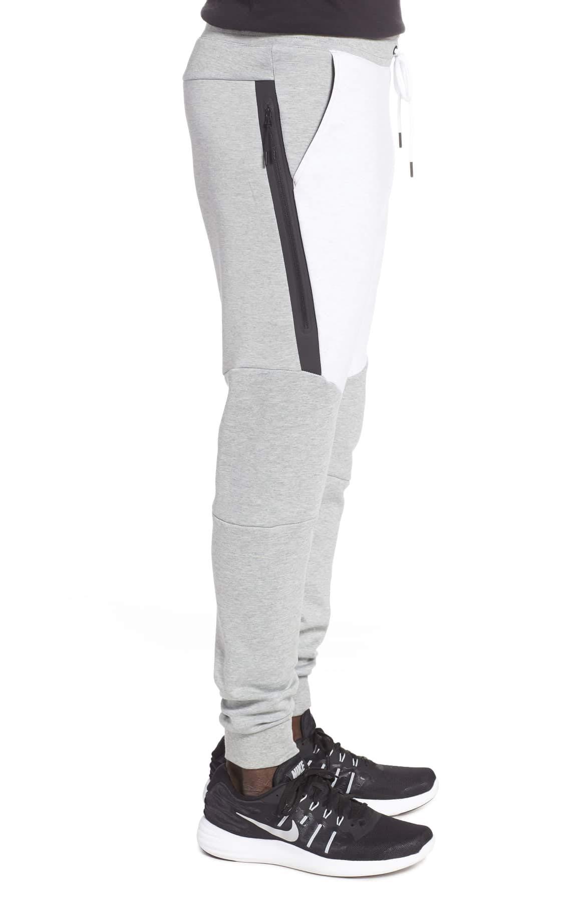 NIKE Mens Sportswear Tech Fleece Jogger Sweatpants (Dk Grey Heather/Birch Heather/Black, Small) by Nike (Image #2)
