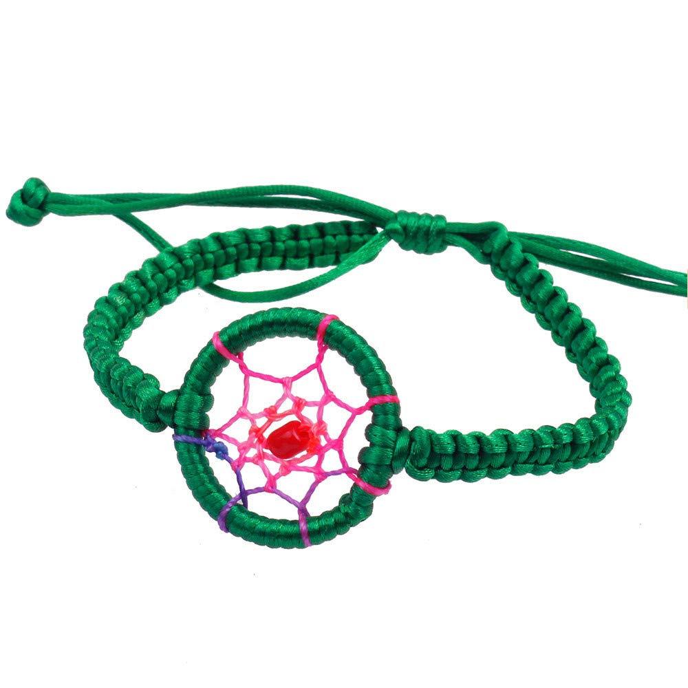 Agelloc 1PC Womens Girls Friendship Bracelet Adjustable Charm Bracelet Dream Catcher Handmade Ankle Bracelet Foot Chain Rope Wristband Women Wristband