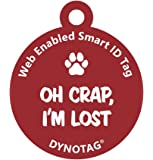 Dynotag Web/GPS Enabled QR Code Smart Deluxe Coated Steel Pet Tag. 4 Fun Designs to Choose From.