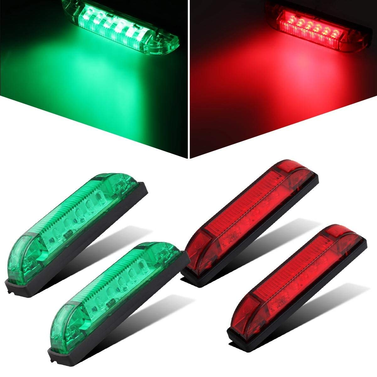 NPAUTO 8 Marine Led Utility Strip Light Red /& Green Utility Light Bar Waterproof LED Boat Navigation Light Trailer Lights Marine Led Marker Lights Clearance Lamps