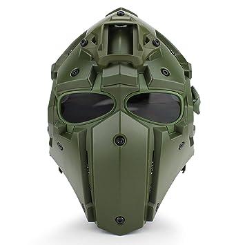Lejie Tácticas Airsoft Casco Protección Facial Completa ...