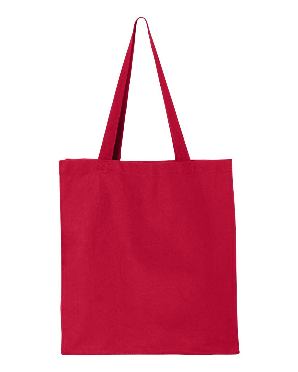 Qtees Womens 20 Web Canvas Handles Gusset Shopper, Red, One Size