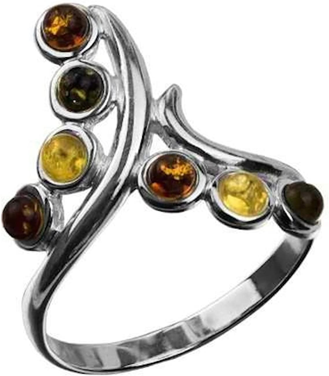 Ian and Valeri Co Amber Sterling Silver Sun Small Ring
