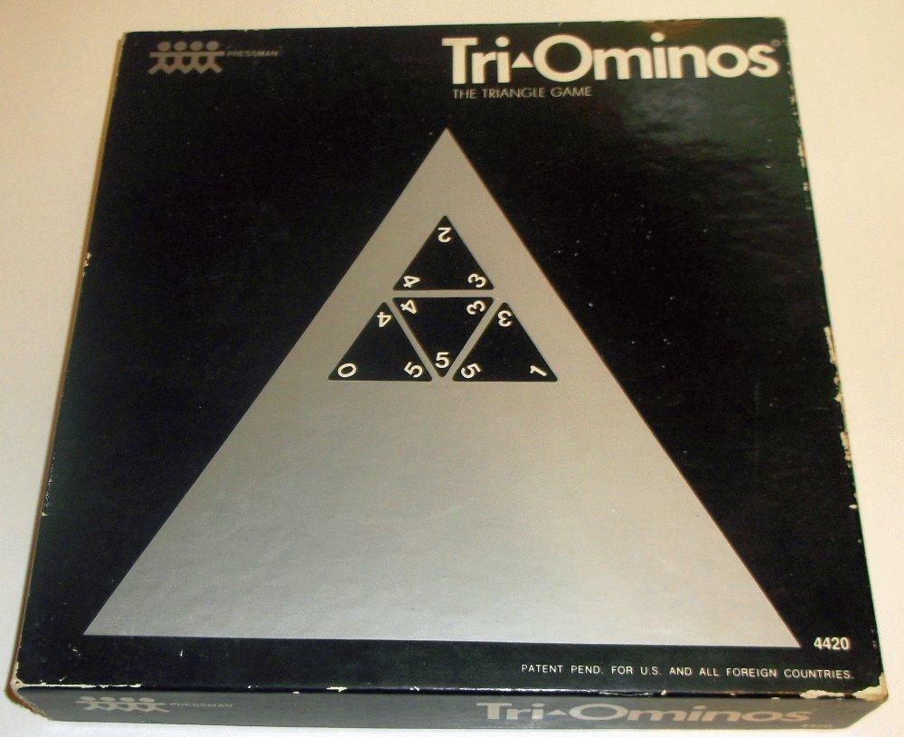 Tri-Ominos; The Triangle Game (1965 - 1st Issue) B00HYSYFES