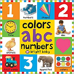 Amazon.com: Bright Bbaby colors, abc, & numbers first words (First ...