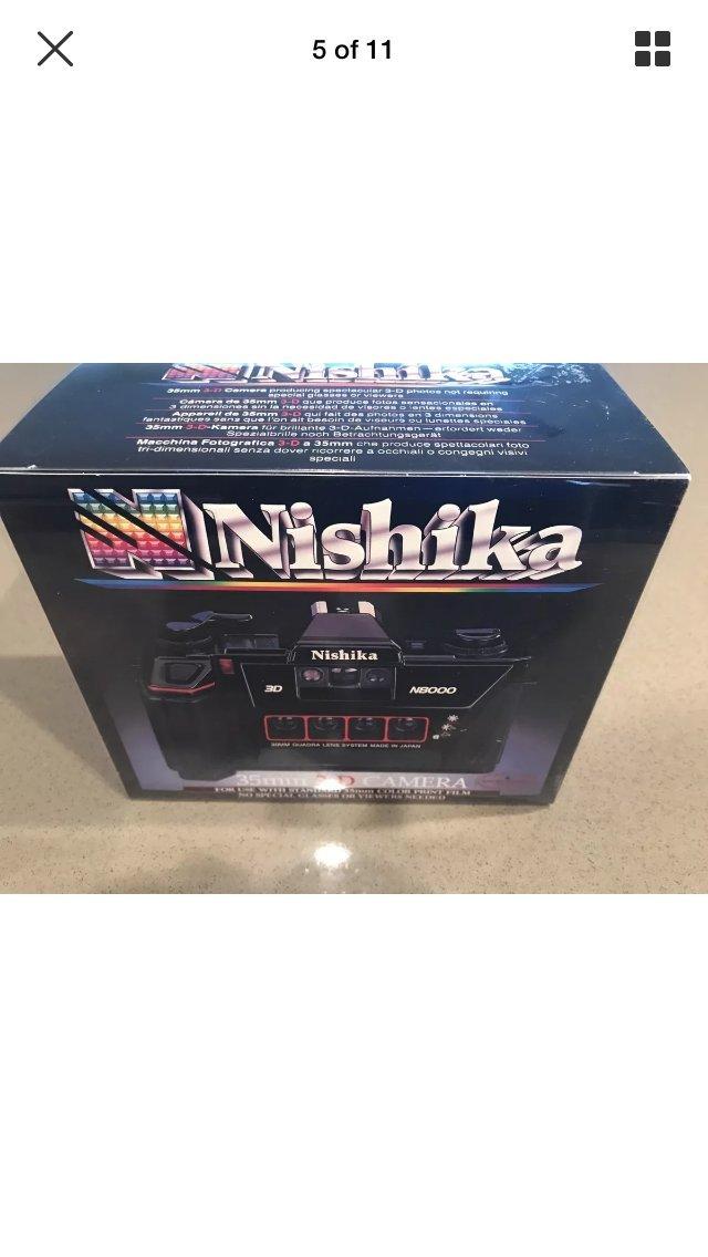 nishika N8000 35 mm quadrascopic estéreo 3D Lenticular ...