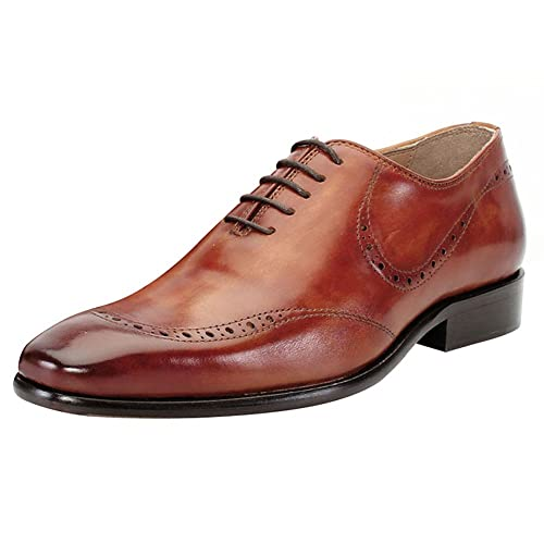 a467d52ee19 Brune Tan Color 100% Genuine Leather Formal Oxford Shoes for Men  Buy  Online at Low Prices in India - Amazon.in