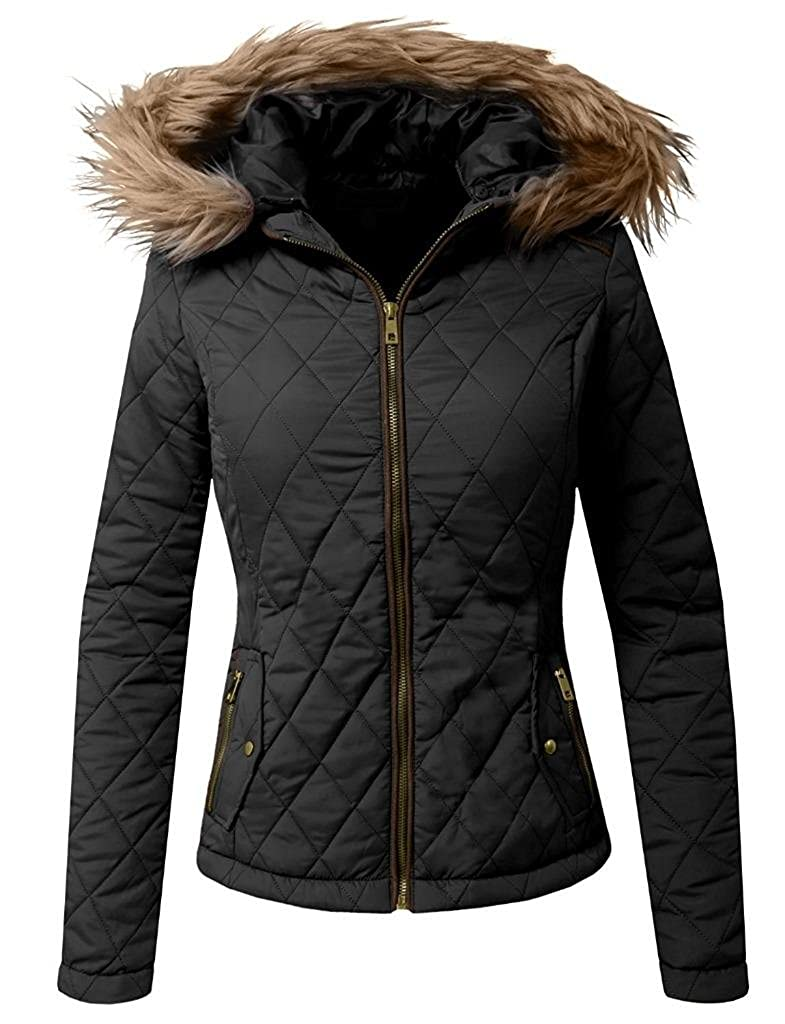 Prime Women Ladies Puffer Jacket Quilted Parka Coat LF-01