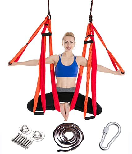 Aerial Yoga Swing Yoga Fuerte Trapeze Kit de yoga, Air Yoga ...