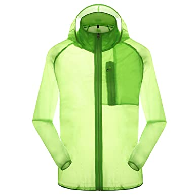 Amazon.com: Outdoor Anti UVA UPF 30  Quick-dry Thin Windbreaker ...