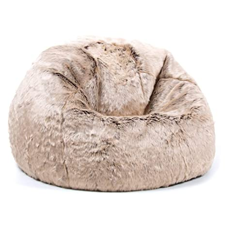 Pleasant Icon Ottawa Childrens Faux Fur Bean Bag Chair Mink Brown Large 65Cm X 45Cm Luxurious Furry Living Room Kids Bean Bags Pabps2019 Chair Design Images Pabps2019Com