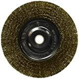 Vermont American 16801 6-Inch Coarse Brass Wire Wheel Brush with 1/4-Inch Hex Shank for Drill