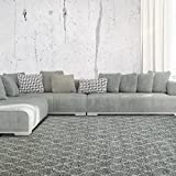 iCustomRug Trellis Shag Area Rug 8ft0in x 10ft0in (8' x 10') Made Soft And Plush For Contemporary Interior In Taupe