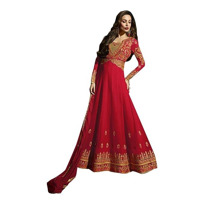 Amazon.com: Bollywood trabajo pesado novia largo Anarkali ...
