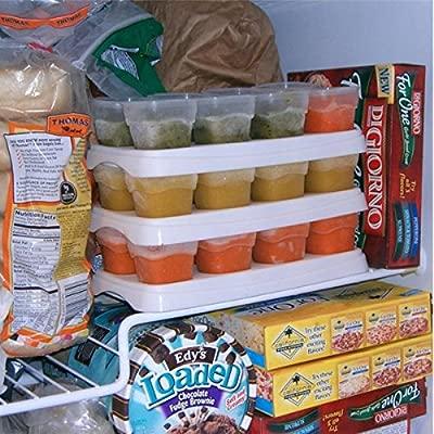 Baby destete alimentos congelación Cubos Bandeja Ollas Congelador Contenedores De Almacenamiento Libre De Bpa