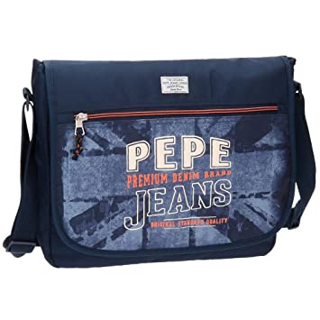 Pepe Jeans Dales Jr Mochila Escolar, 38 cm, 11.78 litros, Azul: Amazon.es: Equipaje
