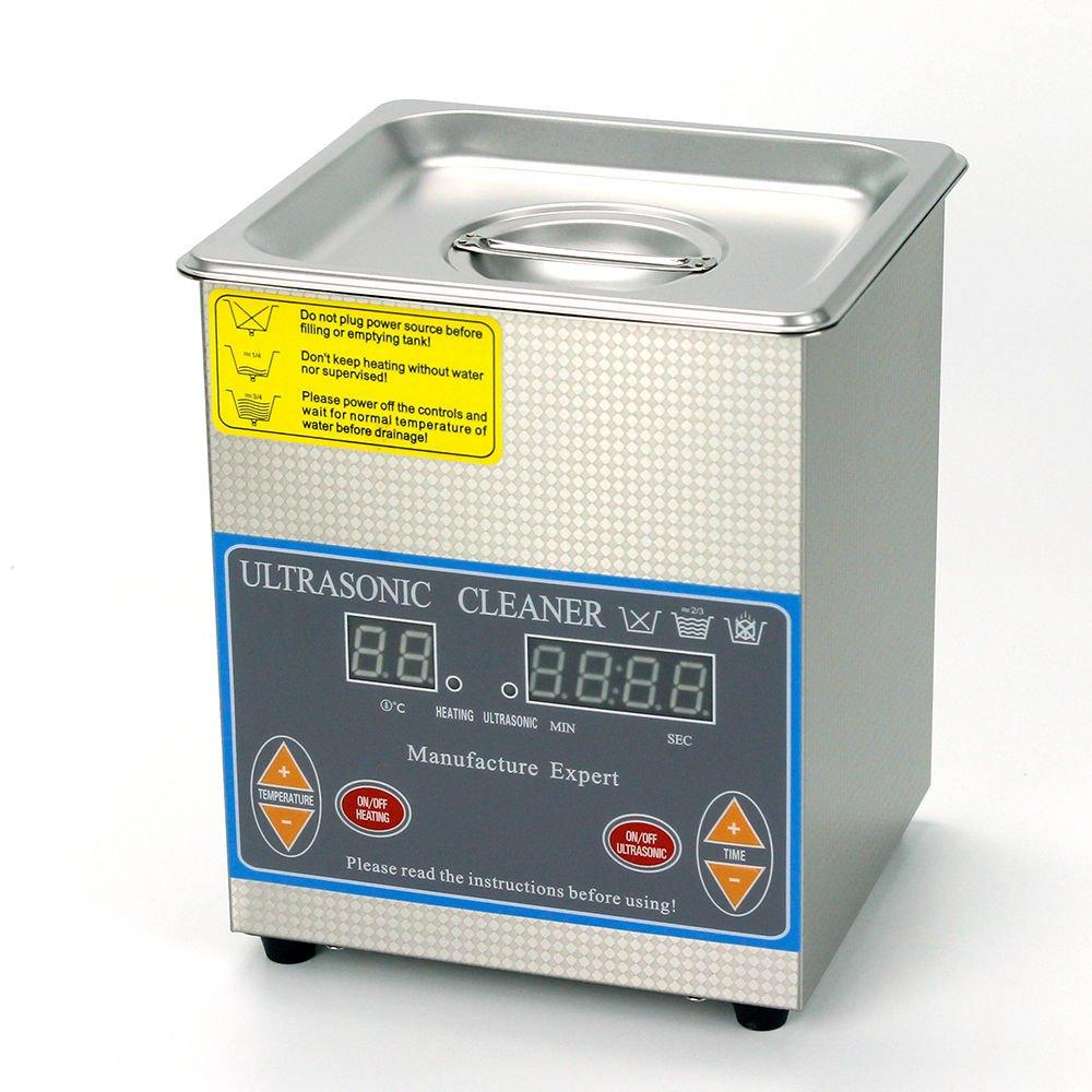 2L Stainless Digital ULTRASONIC Cleaner Tank Heater Cleaning Timer Basket 110V