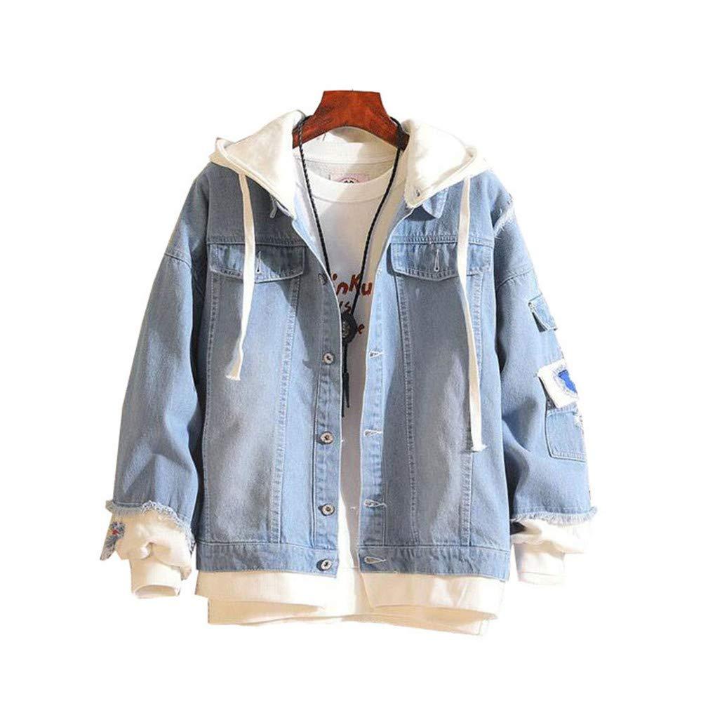Cosstars One Piece Luffy Anime Denim Hooded Jacket Adult Cosplay Hoodie Jeans Coat