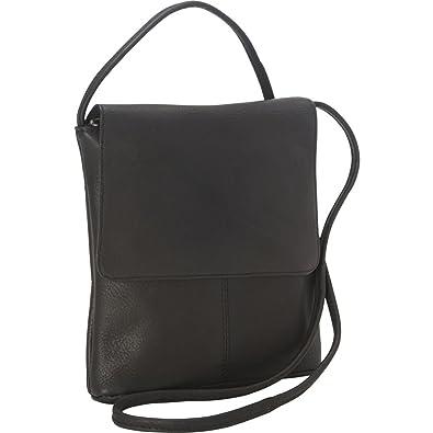 0e75120446 Royce Leather Vaquetta Small Flap Over Crossbody Bag (Black ...