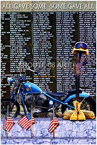Harley Davidson American Veterans Memorial Wall - All Gave Some/Some Gave All Art Print