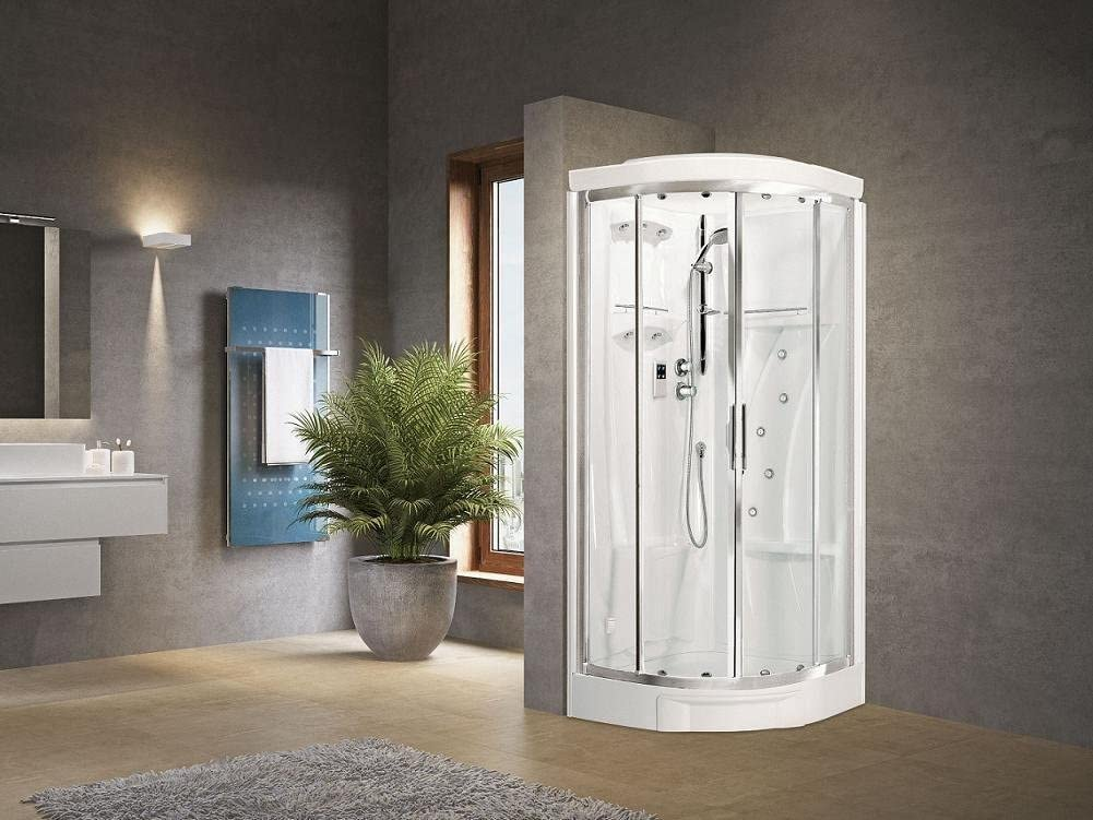 Novellini cabina ducha New Holiday R90 redondo 2 puertas correderas estándar: Amazon.es: Hogar