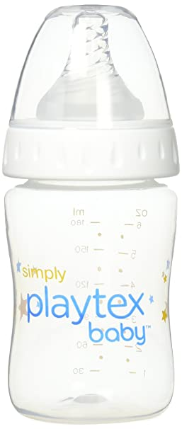 3 Pack 6 Ounce Simply Playtex BPA-Free Baby Bottles