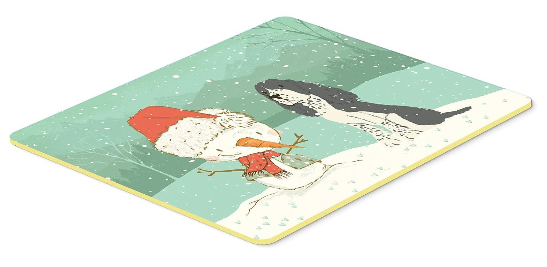 Caroline's Treasures CK2073JCMT イングリッシュスプリンガー スパニエル スノーマン クリスマス キッチン バスマット 24x36、24Hx36W、マルチカラー   B07J1VNT26