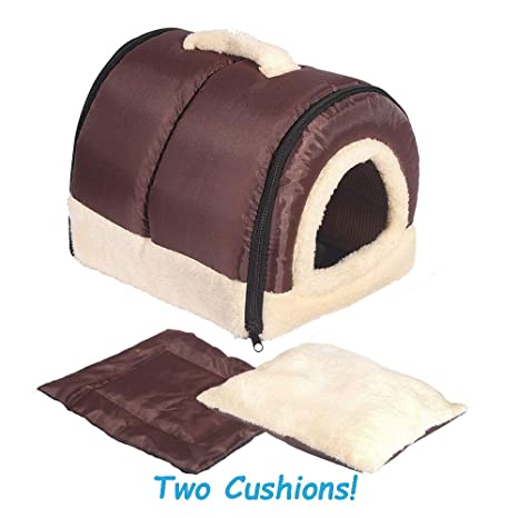 RENZE 2 en 1 casa de Mascotas y sofá, cómoda Suave Lavable ...