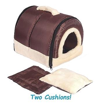 ANPI 2 en 1 Casa y Sofá para Mascotas, Lavable a Máquina Casa Nido Cueva