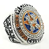 LANCHENEL Titanium Steel Mens Houston Astros SP Championship Of the Year 2017 Rings,Size 13