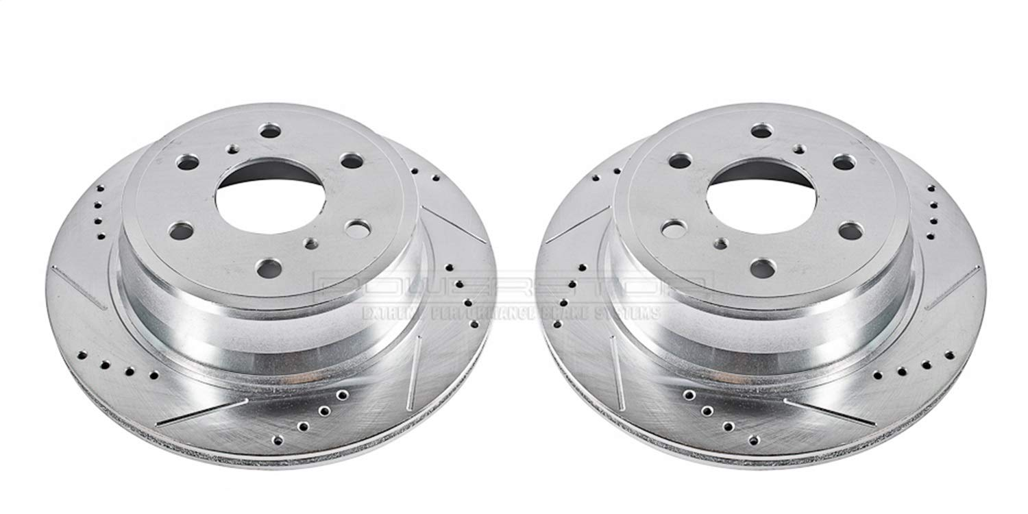 Power Stop AR8658XPR Rear Evolution Drilled /& Slotted Rotor Pair