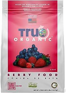 True Organic - Berry & Fruit Plant Food 4lbs - CDFA, OMRI, for Organic Gardening…