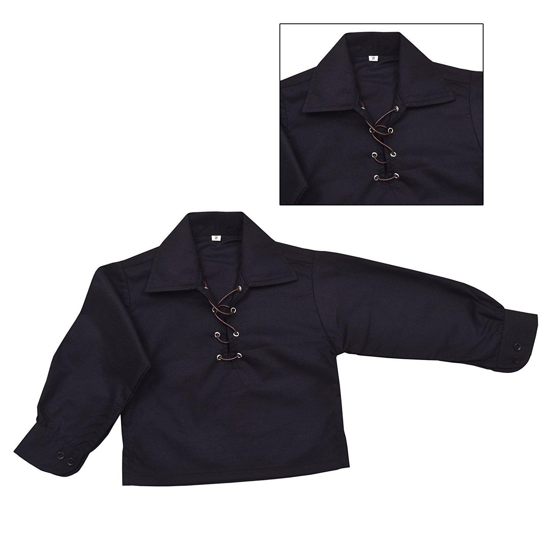 Children's Deluxe Ghillie Shirt Kids Boys Ghillie Shirt - Black