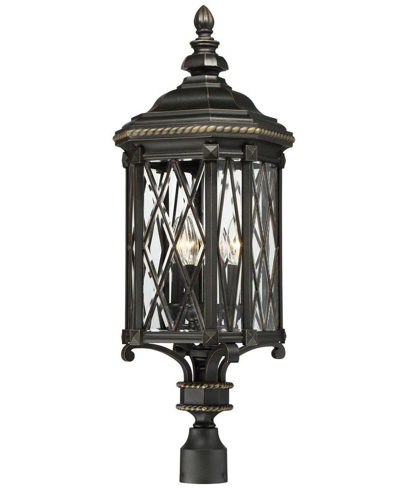 Minka Lavery Minka 9326-585 Transitional Four Light Post Mount from Bexley Manor Collection in Blackfinish, 11.00 Inches 11.00 Inchesfour by Minka Lavery (Image #1)