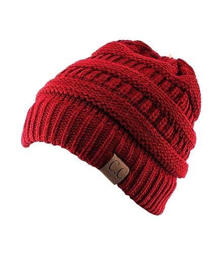 Unisex Trendy Warm Chunky Soft Stretch Cable Knit Slouchy Beanie ... 530157137eb