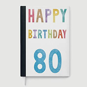 Amazon 80th Birthday Decorations Case Bound Notebook Old Ancient Abstract Vintage Happy Party Theme Artwork 96 Ruled Sheets A5 824x573