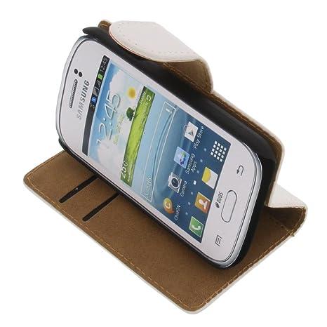 foto-kontor Funda para Samsung Galaxy Young 2 Estilo Libro Blanca Protectora